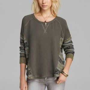 Free People | Knit Cutout Crew 'Beautiful Sinner'